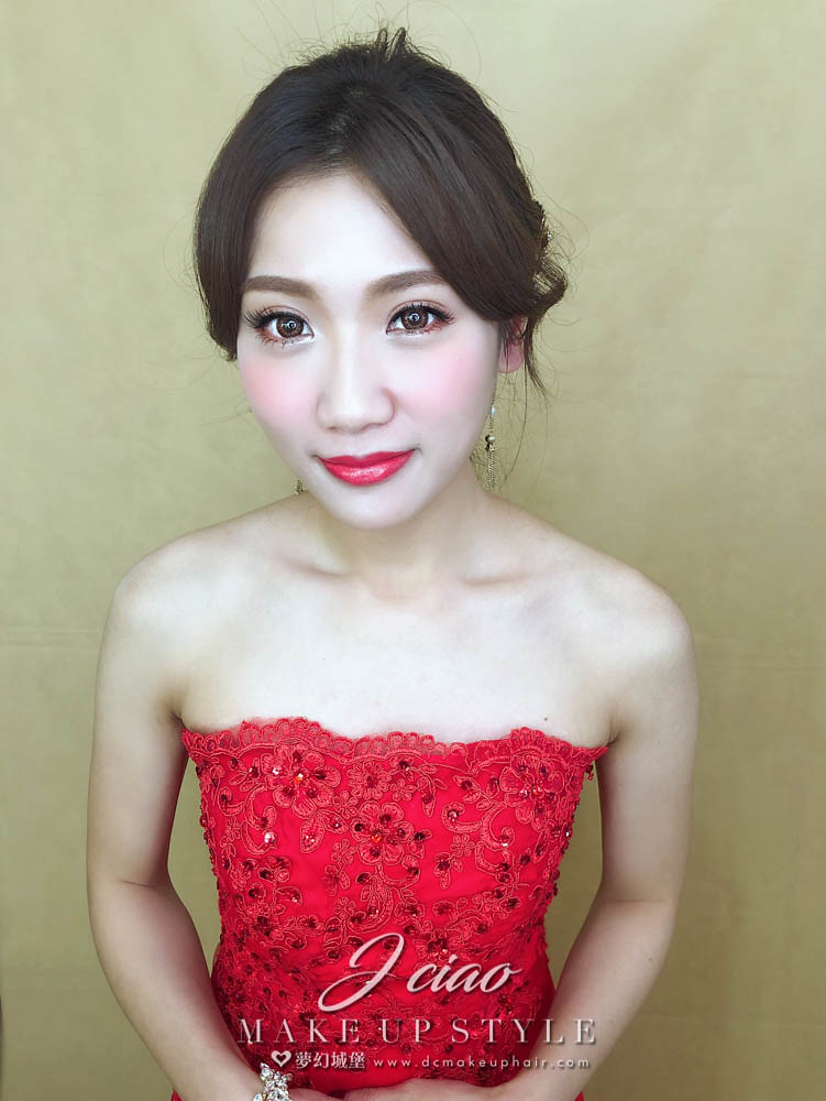 【新秘婕喬】新娘造型創作 / 韓系低放髮造型