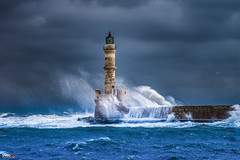 The Lighthouse (Snoopix_) Tags: sony a6000 a6k ilce6000 gseries 70200 water waves windy lighthouse clouds seagull sea chania crete greece oldharbour