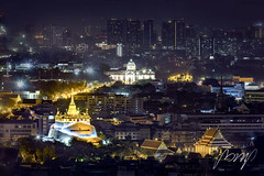 City scape, The Ananta Samakhom Throne Hall (White house) and Golden Mountain of Bangkok. Wat Saket Ratcha Wora Maha Wihan popular tourist attraction Landmarks of Bangkok. Thailand. 26 January 2019. (pomp_jaideaw) Tags: hall throne samakhom ananta golden bangkok temple wat mountain cityscape night landmark famous thailand buddhist travel landscape mount architecture building tourism culture ancient history religion tourist royal beautiful view city urban blue saket background sky gold asia church destination capital palace cathedral thai king dome pagoda siam dusit old