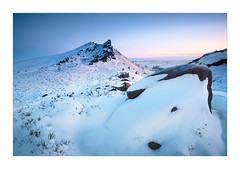 A Touch of Pink (Dave Fieldhouse Photography) Tags: peakdistrict peaks ramshawrocks theroaches leek staffordshire staffordshirelife staffordshiremoorlands snow winter ice rocks sunrise dawn predawn clearsky sky pastel nationalpark fuji fujifilm fujixt2 wwwdavefieldhousephotographycom landscape outdoors countryside