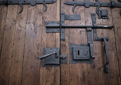 Solid Doors (ImmaDr) Tags: old wooden doors steel locks antique relic poland gdansk tricity mariacki church kosciol heavy door