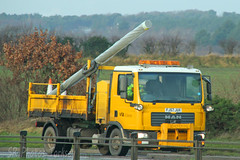 MAN Tipper Nottinghamshire County Council FJ57 JUX (SR Photos Torksey) Tags: transport truck haulage hgv lorry lgv logistics road commercial vehicle freight traffic man tipper nottinghamshire county council