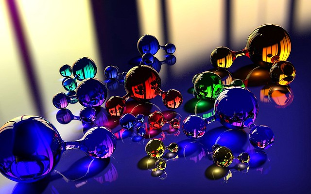 Обои шары, молекула, массажер, стекло, отражение, цвет картинки на рабочий стол, фото скачать бесплатно
