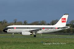 A319 G-EUPJ BRITISH AIRWAYS\BEA retro (shanairpic) Tags: jetairliner passengerjet a319 airbusa319 shannon britishairways bea retroscheme specialcolours geupj eirtech iac
