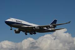 British Airways BOAC Retro Livery 747-436 (G-BYGC) LAX Approach 2 (hsckcwong) Tags: britishairways britishairwaysboacretrolivery boacretrolivery gbygc lax klax 747436 747400 744
