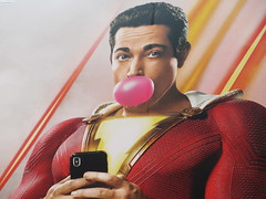 Shazam The Big Red Cheese Billboard 42nd St NYC 3749 (Brechtbug) Tags: shazam billboard 42nd street new captain marvel the big red cheese poster ad nyc 2019 times square movie billboards york city work working worker paint painting advertisement dc comic comics hero superhero alien dark knight bat adventure national periodicals publication book character near broadway shield s insignia blue forty second st fortysecond 03142019 lightning flight flying march