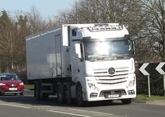 GL13 YFT at Welshpool (Joshhowells27) Tags: lorry truck mercedes actros mercedesbenz mercedesactros mercedesbenzactros gl13yft unmarked refrigerated