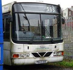 Blackburn (Andrew Stopford) Tags: p643uug volvo b6ble wright crusader transdev lancashireunited intack blackburn harrogatedistrict