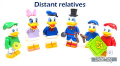 Distant relatives (WhiteFang (Eurobricks)) Tags: lego minifigures cmfs collectable walt disney mickey characters licensed design personality animated animation movies blockbuster cartoon fiction story fairytale series magic magical theme park medieval stories soundtrack vault franchise review ancient god mythical town city costume space