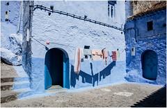 557- ROPA TENDIDA - XAUEN -MARRUECOS - (--MARCO POLO--) Tags: exotismo marruecos calles ciudades arquitectura curiosidades rincones pueblos