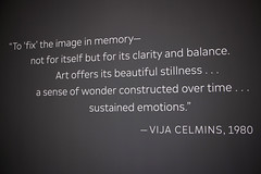 Quotation by Vija Celmins (JB by the Sea) Tags: sanfrancisco california february2019 financialdistrict sanfranciscomuseumofmodernart sfmoma vijacelmins
