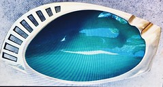 Enamel ashtray from Israel. Spotted on EBay (Cassi J) Tags: israel bronze ashtray enamel blue brass modernist midcentury