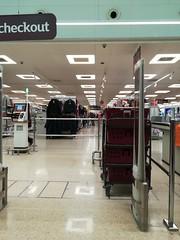 Gone shopping (daveandlyn1) Tags: supermarket aisle lighting reflection selfserivce shop items clothing till railings securityscanner pralx1 p8lite2017 huawei smartphones psdigitalcamera cameraphone