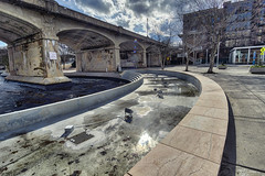 Drained, 2019.02.07 (Aaron Glenn Campbell) Tags: 3xp ±3ev hdr macphun skylum aurorahdr nikcollection colorefexpro viveza worldsfairpark downtown knoxville knoxcounty tennessee sunlight lightrays lensflare shade shadows winter sky clouds sony a6000 ilce6000 mirrorless rokinon 12mmf2ncscs wideangle primelens manualfocus emount