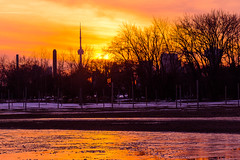 Winter Sunset (A Great Capture) Tags: orange sunset ice icy agreatcapture agc wwwagreatcapturecom adjm ash2276 ashleylduffus ald mobilejay jamesmitchell toronto on ontario canada canadian photographer northamerica torontoexplore beaches ashbridgesbay winter 2018 l'hiver