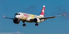 HB-JCA Swiss Bombardier CSeries CS300 (BD-500-1A11) (Niall McCormick) Tags: dublin airport eidw aircraft airliner dub aviation hbjca swiss bombardier cseries cs300 bd5001a11 fête des vignerons 2019 airbus a220300