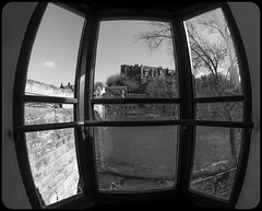 Windows. (CWhatPhotos) Tags: cwhatphotos camera photographs photograph pics pictures pic picture image images foto fotos photography artistic that have which contain flickr olympus omd em1 mk l mzuiko 8mm prime fisheye fish eye lens durham north east england uk city centre day out window view evolution pub castle river wearbridge looking outside blue sky skies cold