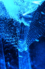 Rought (DJ Axis) Tags: cristaux rock crystal glass glace ice igloo fest sculpture bleu blue cubes stack empilade évènement happening extérieur hiver lights lumière spotlight outside winter festival froid surreal abstract people photo underwater