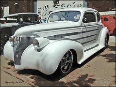 White Thirty-Nine (novice09) Tags: backtothefifties carshow chevrolet 1939 coupe streetrod ipiccy photoscape