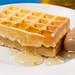Homemade Waffles with Honey