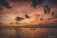 San Felipe  8674-1 (Emilio Segura López) Tags: amanecer cielo nube rojo barco mar sanfelipe yucatán méxico