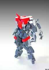 Shun - Unit 04 (Devid VII) Tags: lego moc mech devid vii mecha war wars detail details unit robot samurai nexo cockpit red white 04 shun