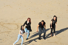 ready (greenelent) Tags: manhattanbeach ca california beach sand people
