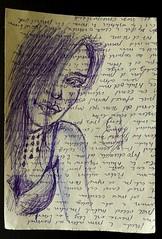 Hola, hay alguien por aquí... . #zaragoza #art #dibujos #drawing #painting #artlovers #dailyart #artoftheday#painter #artofinstagram #draw #ballpen  #portrait #woman #bellezza  #beautifulgirl  #artwork #artsy #instaart#artist#fit #blue #ojos  #fotografia# (egc2607) Tags: blue sketch eyes artwork artsy tattoo art fit artlovers artoftheday photography bellezza ballpen artist painter painting boli ojos instaart drawing hairstyle zaragoza fotografia dailyart beautifulgirl portrait dibujos woman artofinstagram draw