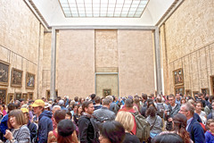 Mona Lisa (YetAnotherLisa) Tags: paris louvre monalisa crowd museum