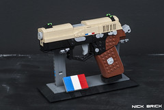 La Résistance P9 - Rainbow Six Siege (Nick Brick) Tags: lego rainbow six siege tom clancy twitch emmanuelle pichon france french gign famas p9 fnp9 rifle pistol breach charge shock drone nickbrick
