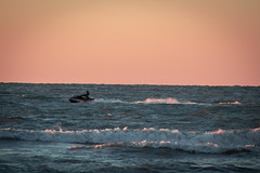 Jet Ski (isabellamcd99) Tags: water sunset waves sky ocean florida naples blue calm tide jetski landscape nature pink orange