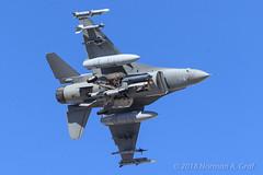 General Dynamics F-16C Fighting Falcon of the 16th Weapons Squadron from Nellis AFB (Norman Graf) Tags: ordnance nellisafb aircraft p5ctstcts airplane usafws generaldynamics 880436 redflag172 analq184ecmpod electronicwarfare usaf aircombatmaneuverinstrument targetingpod aim9 sniper missile 16wps militaryexercise f16 aim9l aim f16c aim120 16thweaponssquadron acmi amraam anaaq33 advancedmediumrangeairtoairmissile airinterceptmissile combattrainingsystem ew electroniccountermeasure fighter fightingfalcon hl jet plane sidewinder tacticalcombattrainingsystem tacticaljammingsystem usafweaponsschool unitedstatesairforce viper wa