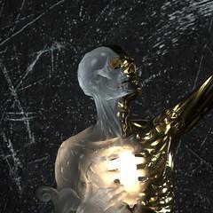 A Heart Made of Gold - Close Up (rezawkward) Tags: cinema4d 3d digital visual art octane render sculpture