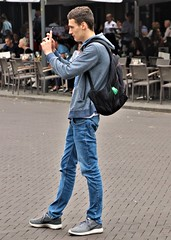Take a Picture (Skinny Guy Lover) Tags: outdoor people candid guy man male dude teenageguy teenguy teenager backpack jeans bluejeans sideprofile hoodie nikes nikeshoes smartphone takingapicture takingpicture takeapicture takepicture photography streetshooter
