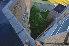 Jump Here (jgurbisz) Tags: jgurbisz vacantnewjerseycom abandoned nj newjersey essexcountyisolationhospital roof asylum decay feet