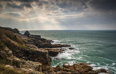 Rinsey (James Etchells) Tags: rinsey cornwall kernow national trust seascape landscape sea ocean water waves rocks rock rocky colour color sky clouds light changeable south west uk england britain british nature natural world outdoors outdoor coast coastal coastline nikon lee filters