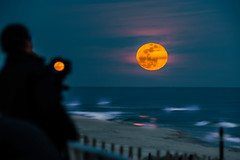 Super Snow Moon 2019 (jgaosb) Tags: jaygao best most famous beautiful interesting cute romantic background top moon rise super snow 2019 beach ocean smith point park evening orange people photography capture camera blue sky