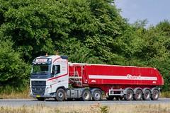 BL57199 (18.07.18, Motorvej 501, Viby J)DSC_5481_Balancer (Lav Ulv) Tags: 255798 volvo volvofh fh4 fh500 e6 euro6 white bulktipper 6x2 2017 kloster amttrailer truck truckphoto truckspotter traffic trafik verkehr cabover street road strasse vej commercialvehicles erhvervskøretøjer danmark denmark dänemark danishhauliers danskefirmaer danskevognmænd vehicle køretøj aarhus lkw lastbil lastvogn camion vehicule coe danemark danimarca lorry autocarra danoise vrachtwagen motorway autobahn motorvej vibyj highway hiway autostrada trækker hauler zugmaschine tractorunit tractor artic articulated semi sattelzug auflieger trailer sattelschlepper vogntog oplegger sættevogn