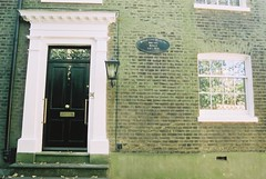 Stevenson's House (goodfella2459) Tags: nikonf4 afnikkor24mmf28dlens cinestill50 35mm c41 film analog colour building house london hampstead history robertlouisstevenson oldandbeautiful