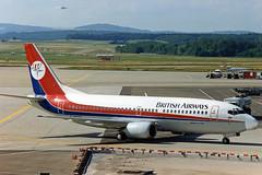 British Airways Boeing 737-300 G-SCUH (Dan-Air c/s) (gooneybird29) Tags: flugzeug flughafen aircraft airport airplane airline zrh boeing 737 britishairways danair gscuh