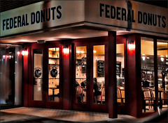 Federal Donuts (raymondclarkeimages) Tags: raymondclarkeimages 8one8studios usa outdoor rci google flickr apsc fujifilm mirrorless xt3 store shop federaldonuts xf23mmf14r lowlight naturallight noflash coffee donutshop cafe restaurant food friedchicken philly philadelphia