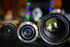 My Aerial lenses (bokehizm) Tags: 50mm hexanon konica aeroektar medalist kodak dagor goerz heliar