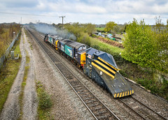 37059 and 37218 at Stenson Junction (robmcrorie) Tags: 36059 37218 crewe derby motherwell snow plough snowplough move 7z31 stenson junction derbyshire findern willington nikon d850 canal class 37