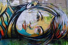 Portrait couché (Edgard.V) Tags: streetart arte urbano urban art callejero mural graffiti portrait retrato ritratto female portraiture beleza beauty bellezza beauté fille femme vitrysurseine
