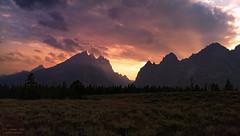 """Ignited"" (borabali) Tags: sunset dusk mountains clouds nature landscape grandteton wyoming usa"