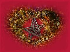 Wish upon a Christmas star (quietpurplehaze07) Tags: smileonsaturday wishuponastar christmas decorations collage bokeh woodenstar