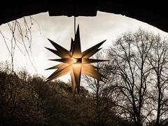 Stern - Sepia (KL57Foto) Tags: bergischesland 2018 altenberg germany winter kl57foto nrw natur nordrheinwestfalen dezember omdem1 odenthal olympus stern sepia