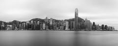 Hong Kong Harbour (EricMakPhotography) Tags: blackwhite panorama hongkong harbour silver reflection water nd1000
