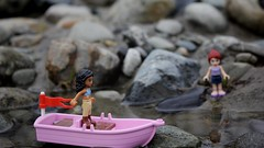 Stuck without oar (curtis.mchale) Tags: pink woman lady girl oars legoboat legofriends lego