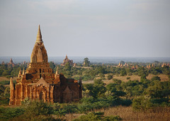 Temples And Pagodas In Bagan, Myanmar (Eric Lafforgue) Tags: asia myanmar burma tourism pagan bagan religion faith buddhism photography colorimage buddha internationallandmark famousplace temple pagoda stupa southeastasia spirituality traditionallymyanmarian copyspace nationallandmark placeofinterest ancient outdoors architecture history builtstructure tranquilscene horizontal colourpicture archaeology traveldestinations nopeople nobody burma7994